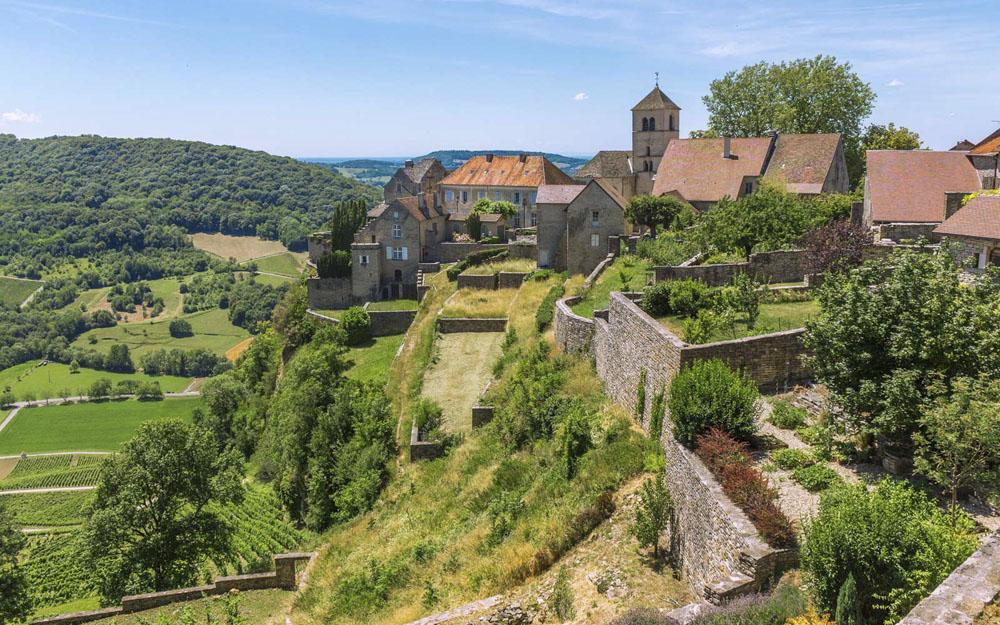 Zicht op Bergerac stad